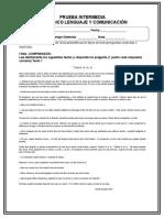 Evaluación Intermedia Lenguaje 3 2018