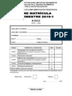 Ficha de Pre Matrícula III Ciclo