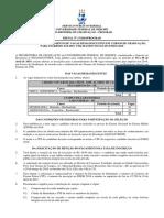 Edital univ. Federal do Piauí