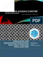 Sosialisasi Aplikasi E-raport