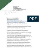 Emails sobre carta Licenciado Mangual