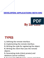 Developing Application With RMI