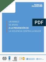 Marco de Apoyo a La Prevencion de La Violencia Contra La Mujer