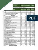Presupuesto General de Obra