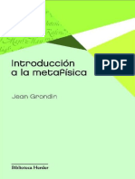 Introduccion a la Metafísica