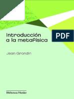 Introduccion a la Metafísica