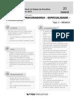 PGE Analista Da Procuradoria - Especialidade - Processual (AP-PROC) Tipo 1