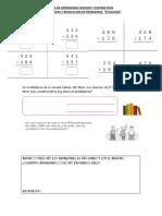 Guia de Aprendizaje Evaluada Matematia Sumas y Restas Al 1000 Con Reservas