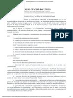 Instrução Normativa Nº 72, De 16 de Novembro de 2018 - Imprensa Nacional