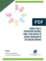 Manual Para La Intervencion Con NNA en Riesgo o Vulnerados en Sus DDHH