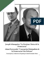 La Doctrina Clásica de La Democracia. Joseph Schumpeter.