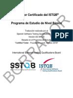 CTFL Syllabus 2018 Español Borrador