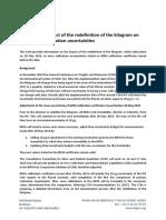 BIPM Note on Kilogram Redefinition