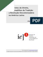ADORNO, Sérgio. Nos limites do direito, nas armadilhas da tradição; a revolução descolonizadora na América Latina.pdf