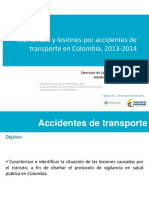 Mortalidad Lesiones Accidentes Transporte Colombia 2013 2014