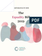 Equality Bill 2019 22nd July 2019
