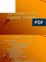 Inspector Course Outline