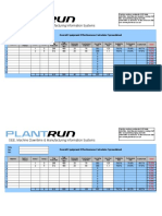 Plantrun Oee Calculator