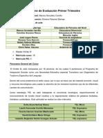 Pauta Informe Trimestral de Evaluación.
