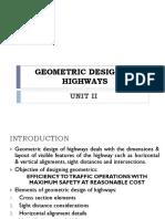 Unit II Geometric Design of Highways