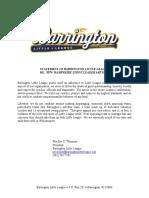 Barrington Little League responds to article