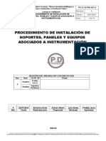 Procedimiento de Instalación de Soportes Paneles y Equipos Asociados a Instrumentación