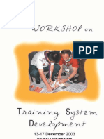 Training System Devt 2003