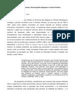 Documento, Historiografia Alagoana e Cultura Politica