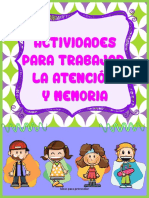 Actividades Para Trabajar La Atención y Memoria