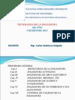 Tecnologia de La Soldadura Sesion 1 2013-i