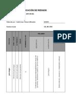 Matriz Para Identificación de Peligros, Valoración de Riesgos y Determinación de Controles Camilo Chaverra