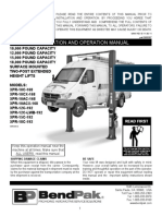 Bendpak - Plataforma Hidraulica Para Vehiculos Livianos - Xpr-10 Ext Manual 5900307 Rev b 11-30-11