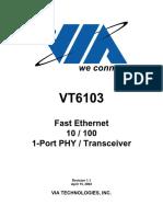 Datasheet de Via VT6103
