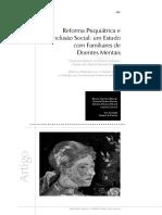 Reforma Psiquiátrica e Inclusão Social Um Estudo Com Familiares de Doentes Mentais.