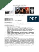 Gender Studies Syllabus