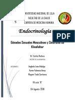 Hipogonadismo Masculino y Sd de Klinefelter
