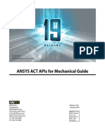 ACT APIs for Mechanical Guide