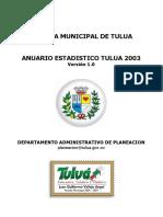 Anuario Estadístico 2003
