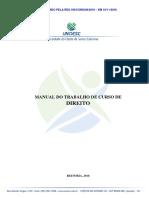 Manual para elaboração do trabalho de conclusão de curso
