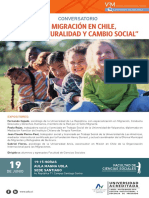 Afiche Conversatorio Sobre La Migracion en Chile Multiculturalidad y Cam...