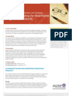 Automated Testing for Mainframe Products