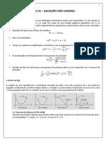Aula 01 - Equações Não Lineares - Método Da Bissecção