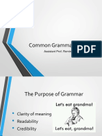 common grmmatical blunders