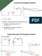 1. Analisis Generator DC