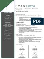 ethan lazor current resume