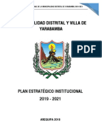 Pei 2019-2021 Municipalidad Distrital y Villa de Yarabamba