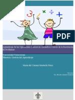 Mastachi - Aprendizaje de Las Operaciones Basicas en Aritmetica a Traves de Problemas
