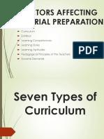 Seven Types of Curriculum
