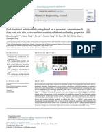 Dual-functionalantimicrobialcoatingbasedonaquaternaryammoniumsalt fromrosinacidwithinvitroandinvivoantimicrobialandantifoulingproperties
