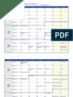 Calendario 2019 semanal